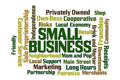 Small Business. Word Cloud on white background Stock Photos