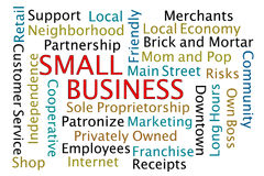 Small Business. Word Cloud on white background Royalty Free Stock Images