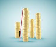 Small businessman climbing Stock Photos