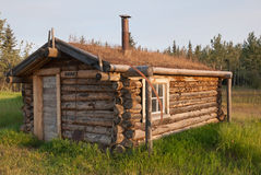 Small cabin at Fort Selkirk Historic Site Stock Photography