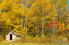 Small cabin in Natural Bridge State Park, Wiconsin Stock Image