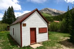 Small Cabin in the Rockies Royalty Free Stock Photos