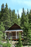 Small Cabin in the Woods royalty free stock photos