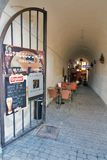 Small cafe in Banska Bystrica, Slovakia. Stock Images