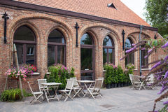 Small cafe in Bruges, Belgium Stock Photos