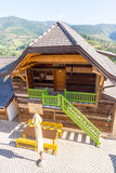 A small cafe on the hillside in Kusturica Drvengrad in Serbia stock photos