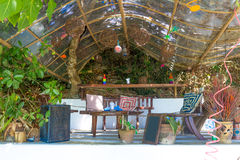 Small cafe in tropics, lounge area Stock Photography