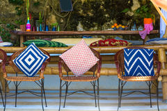 Small cafe in tropics, lounge area Stock Images