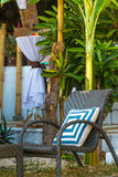 Small cafe in tropics, lounge area Royalty Free Stock Photos