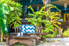 Small cafe in tropics, lounge area Royalty Free Stock Photography