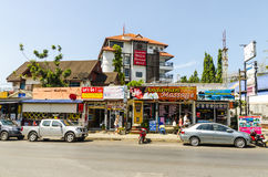 Small cafes and shops on the Thai Stock Photo