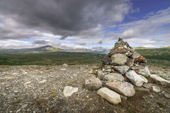 A small cairn in Norway Stock Photos