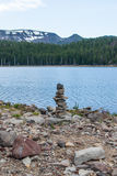 Small cairn royalty free stock photos
