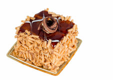 Small cake with caramel on top Stock Photo