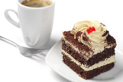 Small cake and coffee Royalty Free Stock Photos