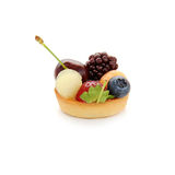 Small cake with fruits Stock Images