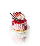 Small cake with grapes Royalty Free Stock Photos