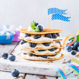 Small cake made of pancakes Stock Images