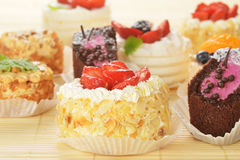 Small  cakes Royalty Free Stock Photo