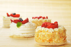 Small  cakes Stock Images