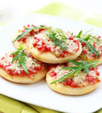 Small cakes as appetizer Royalty Free Stock Photos