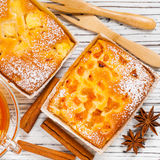 Small Cakes. Christmas Background Baking Dessert Small Cakes. Selective focus Royalty Free Stock Photos