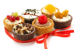 Small cakes with different stuffing Stock Image