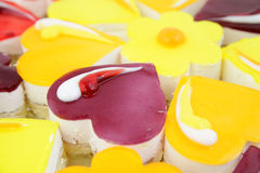 Small cakes with different stuffing Stock Photography