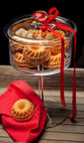 Small cakes in a glass Royalty Free Stock Photography