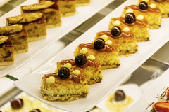 Small cakes in a pastry shop Stock Photography