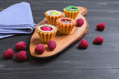 Small cakes petit fours Royalty Free Stock Images