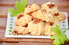 Small cakes with walnuts Stock Photo