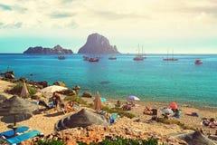 Cala d`Hort beach. Ibiza Island Royalty Free Stock Photography