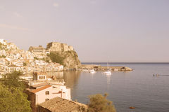 Small Calabrian town Scilla near strait Royalty Free Stock Photos