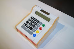 Small calculator for Kids. With color buttons Royalty Free Stock Images