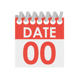 Small calendar for organizer with rings Stock Photo