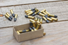 Small caliber ammunition Stock Images