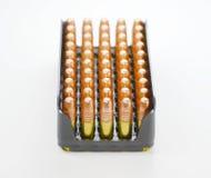 Small caliber ammunition. Stock Photo