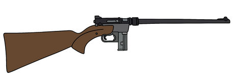 Small caliber rifle. Hand drawing of a small caliber sport rifle royalty free illustration
