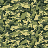 Small Camouflage. Small army camouflage pattern with various muted green tones Vector Illustration