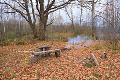 Small campfire Stock Photo