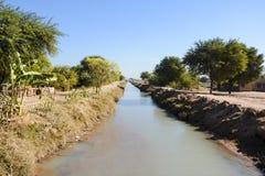 Small Canal – Kacha Nala. A small canal – Kacha Nala part of Mohar lift irrigation scheme A Stock Image