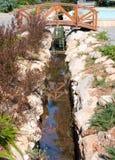 Small canal abd bridge Stock Photos