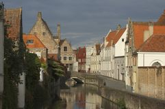 Small Canal in Bruges Royalty Free Stock Images