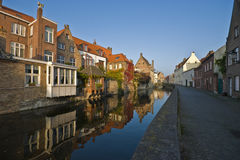 Small canal in Brugge Stock Photo