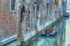 Small canal in hdr Stock Images