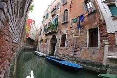 Small Canal of Venice stock images