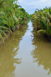 Small canal in Mekong Delta. Royalty Free Stock Image