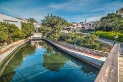Small canal in Porto Rotondo Stock Image