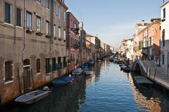 Small canal venice Stock Photography
